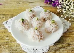 清蒸大米虾丸