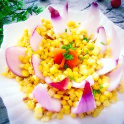 金沙玉米莲花的做法[图]