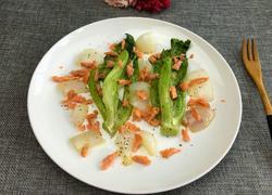 烟熏鲑鱼焗生菜