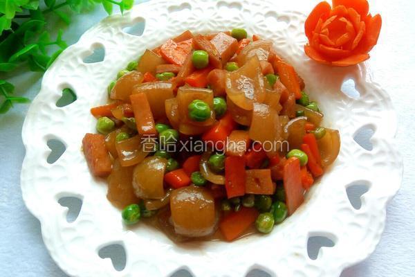 肉皮豌豆小炒
