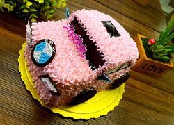 粉色宝马蛋糕