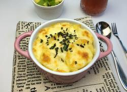 火腿芝士焗土豆