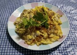 萝卜干煎蛋饼