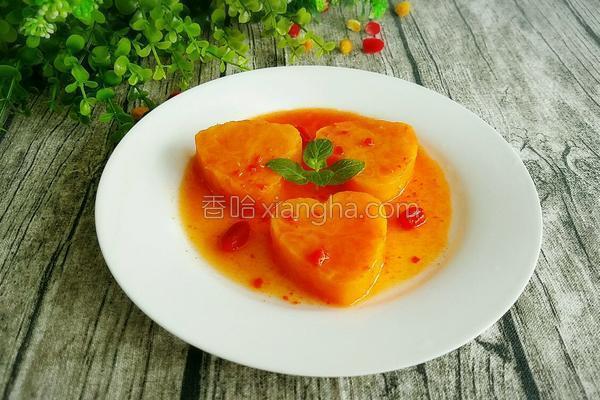 蜜汁枸杞红薯的做法
