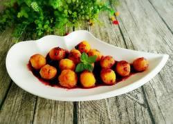 蜂蜜蓝莓红薯球