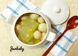 肉丸虾米冬瓜汤