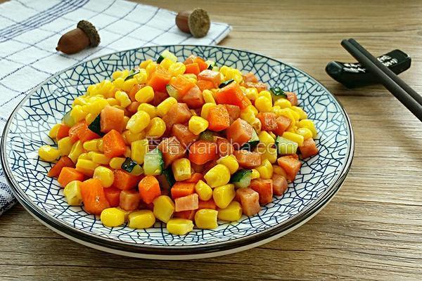 火腿炒玉米粒