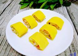 牛奶鸡蛋玉米面饼卷炒饭