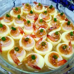 蒜香玉子豆腐蒸虾仁