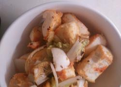 白菜炒馍块