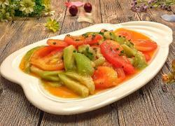 西红柿烩绿丝瓜