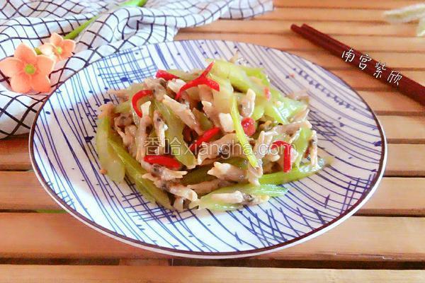 西芹炒蛏肉