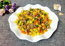 玉米胡萝卜炒瘦肉