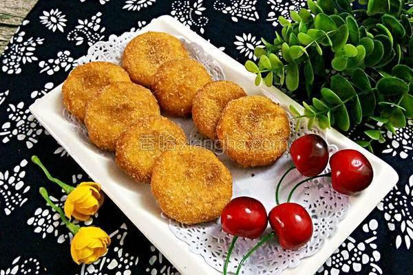 椰香红薯饼的做法