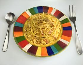 奶油蛋黄培根意大利面