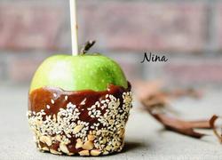 花生巧克力焦糖苹果