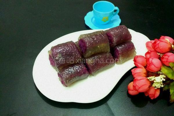 水晶紫薯卷的做法