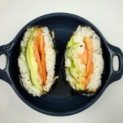 烟熏鲑鱼生菜免捏饭团