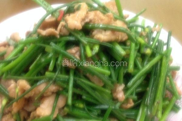 韭菜花炒猪肉