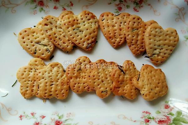 低糖香葱饼干
