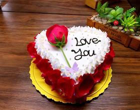 玫瑰爱心蛋糕