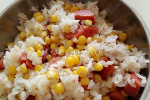 烤肠玉米炒饭