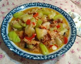水瓜炒肉片