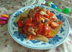 红辣椒杏鲍菇炒肉