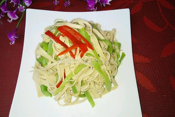青椒炒豆腐皮