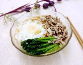 青菜肉丝鸡蛋面