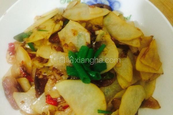 腊肠干锅土豆片