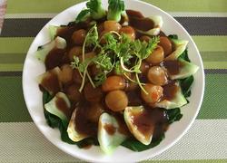 冬瓜浇汁青菜