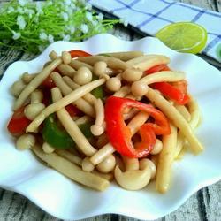 彩椒耗油海鲜菇