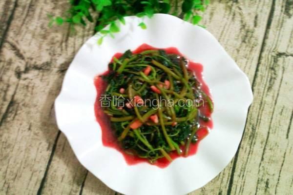 清炒红苋菜