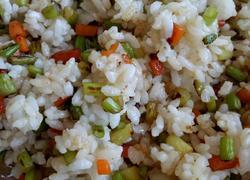 蒜台炒米饭