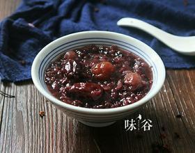 红枣桂圆黑米粥[图]
