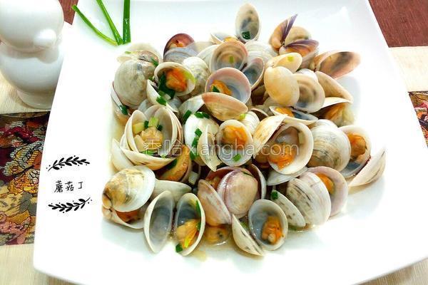 葱爆蛤蜊的做法