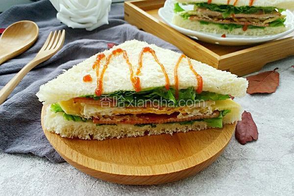 芝士火腿三明治