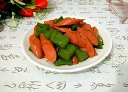 青椒炒火腿