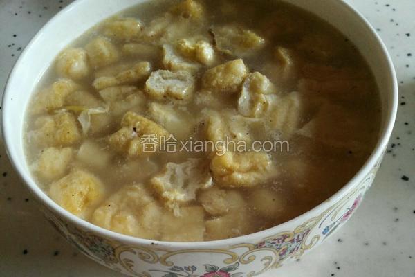 油豆腐鸭蛋汤