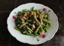 长豆角炒肉丝