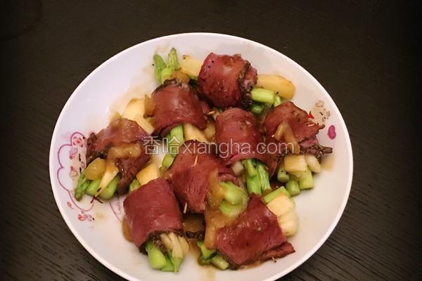 黑椒牛肉卷