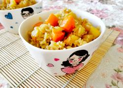 胡萝卜土豆香肠焖饭