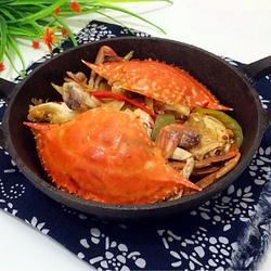 香辣螃蟹的做法[图]