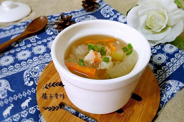 冬瓜虾仁汤的做法