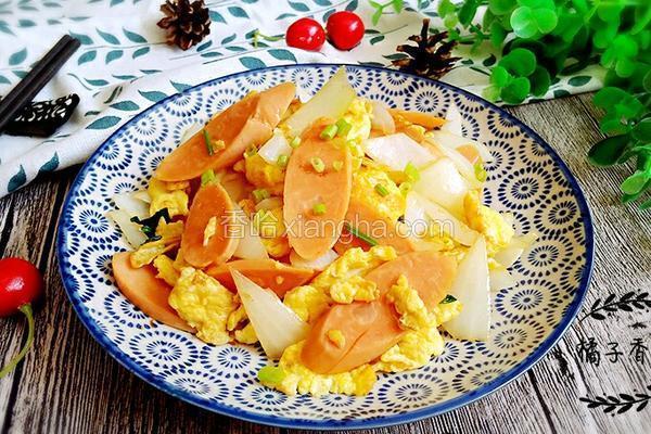 洋葱鸡蛋炒火腿
