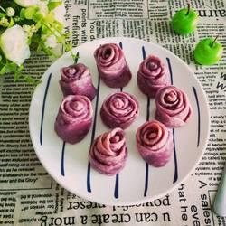 紫薯玫瑰花馒头