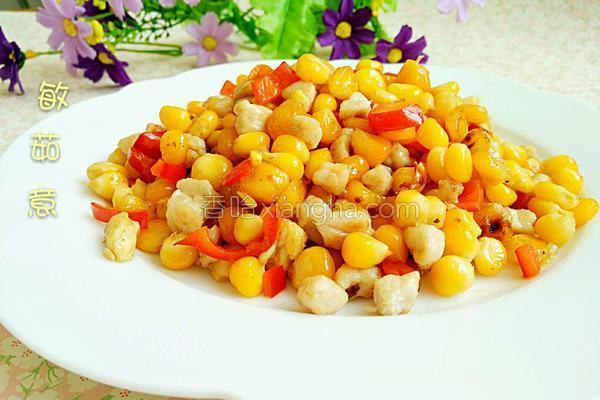 玉米肉末的做法