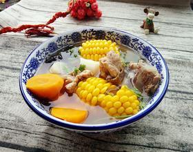 玉米胡萝卜山药猪骨汤[图]