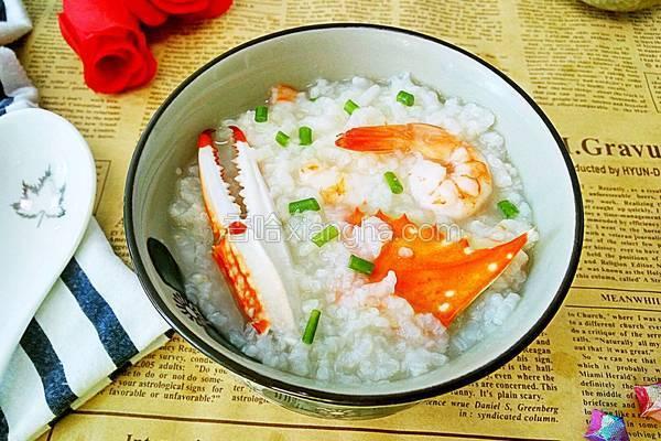 海蟹鲜虾粥